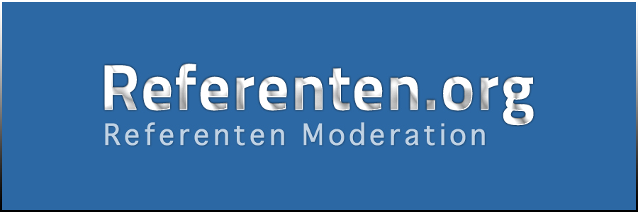 Referenten Moderation