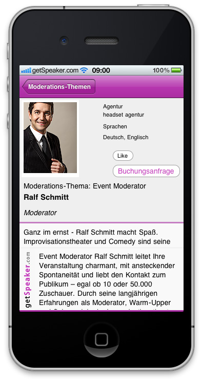 Event Moderator Ralf Schmitt iPhone-App