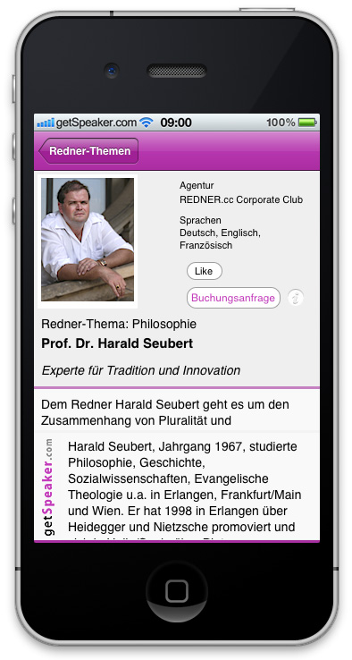 Referent Philosophie Prof. Dr. Harald Seubert iPhone-App