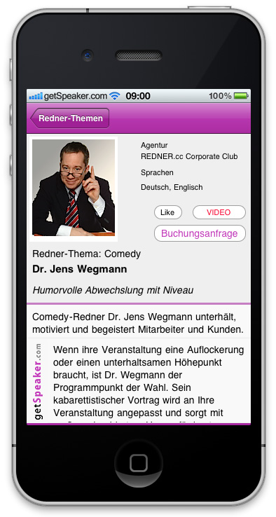 Referenten Comedy Dr. Jens Wegmann iPhone-App