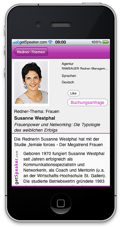 Referenten Frauen Susanne Westphal iPhone-App