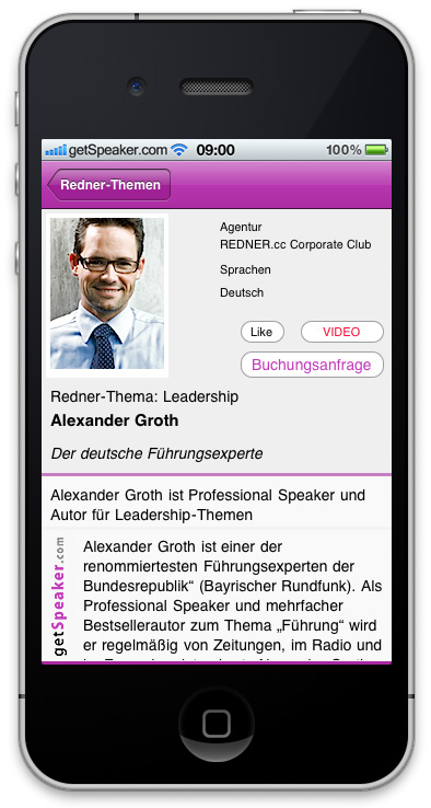 Referenten Leadership Alexander Groth iPhone-App