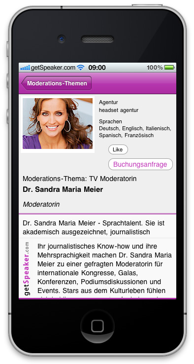 TV Moderatorin Dr. Sandra Maria Gronewald iPhone-App